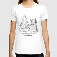 Pizza Rat Womens Fitted Tee White SMALL