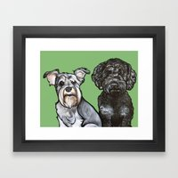Charlie And Beau Framed Art Print