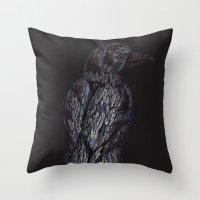 Black Bird (2) Throw Pillow