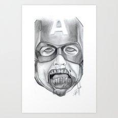Zombie Avenger Art Print