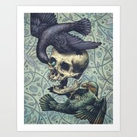 Bowerbirds Art Print