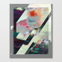 Water Lilies Interference Canvas Print