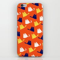 Ghostly Cats iPhone & iPod Skin