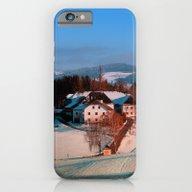 Village Scenery In Winte… iPhone 6 Slim Case