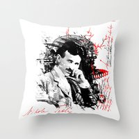 Nikola Tesla Throw Pillow