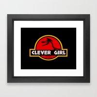Clever Girl Framed Art Print