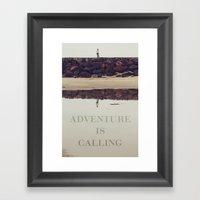 Adventure Is Calling Framed Art Print