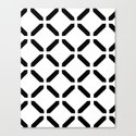 BW Pattern (Link) Canvas Print