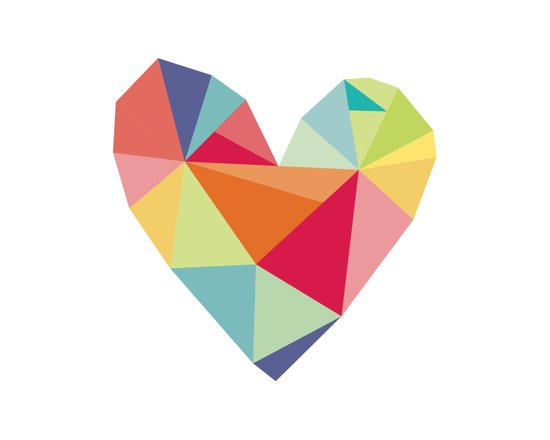 Geometric heart print Art Print