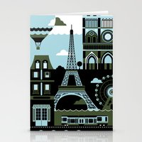 paris Stationery Cards featuring Paris by koivo