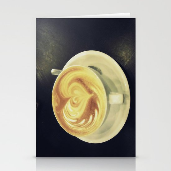 Latte Love ~ coffee Stationery Card