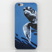 Baby Blue iPhone & iPod Skin