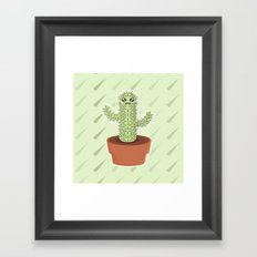 Kawaii Cactus Framed Art Print
