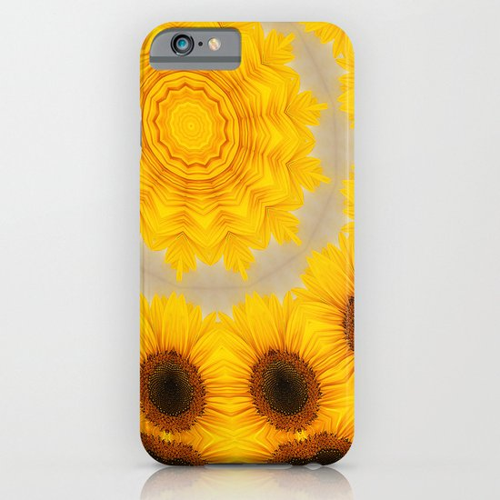 Sunflower and Bee Abstract iPhone & iPod Case