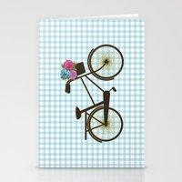 bike Stationery Cards featuring Bike by Juliana Zimmermann