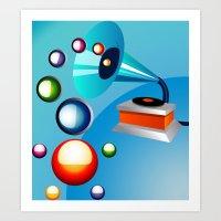 Atomic Music Art Print