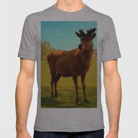 Young Deer (Cervidae) Mens Fitted Tee Athletic Grey SMALL