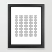 GRAY/WHITE  + Framed Art Print