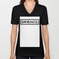 Originel Noir Unisex V-Neck