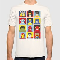 Felt Heroes Mens Fitted Tee Natural SMALL