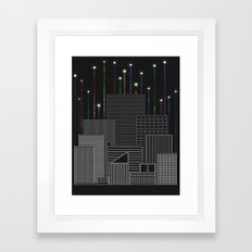 City Space To The Stars Framed Art Print