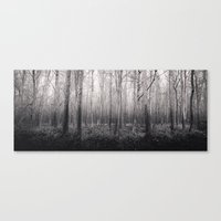 Black And White Forest 2… Canvas Print