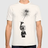 horn player Mens Fitted Tee Natural SMALL