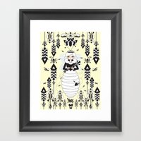 Lady Honey Framed Art Print