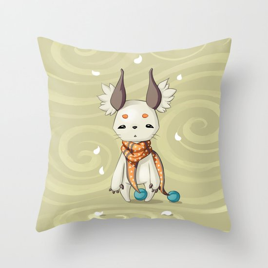 Fluffy Ears Throw Pillow