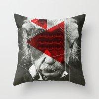 Albert E Mix 1c Throw Pillow
