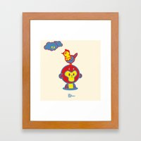 The Monkey And The Roost… Framed Art Print