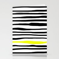 Neon zebra stripes Stationery Cards