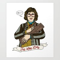 Twin Peaks (David Lynch) The Log Lady Art Print