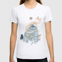never ending story Womens Fitted Tee Ash Grey SMALL