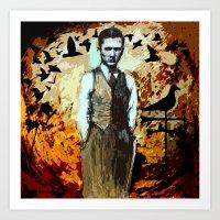 The Man Who Summoned Bir… Art Print