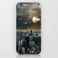 iPhone & iPod Case featuring Great Skies over Manhattan by hannes cmarits (hannes61)