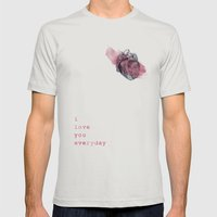 I_love_you_everyday Mens Fitted Tee Silver SMALL