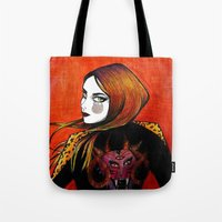 Fire girl Tote Bag