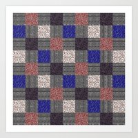 Patchwork Pattern Art Print
