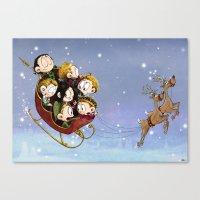 Little Hiddles Christmas… Canvas Print