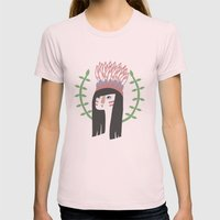 Wingapo Womens Fitted Tee Light Pink SMALL