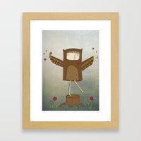 Little Owl Girl Framed Art Print