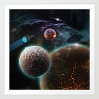 Deep Space Flare Art Print