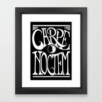 Carpe Noctem - black Framed Art Print