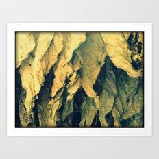 Tobacco leafs Art Print