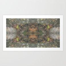 Natural Mosaic Collage 4 Art Print
