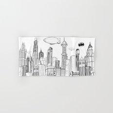 Gotham City Skyline Hand & Bath Towel