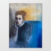 Woman in Smoke Canvas Print