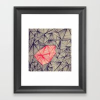 Lines On Lines Framed Art Print