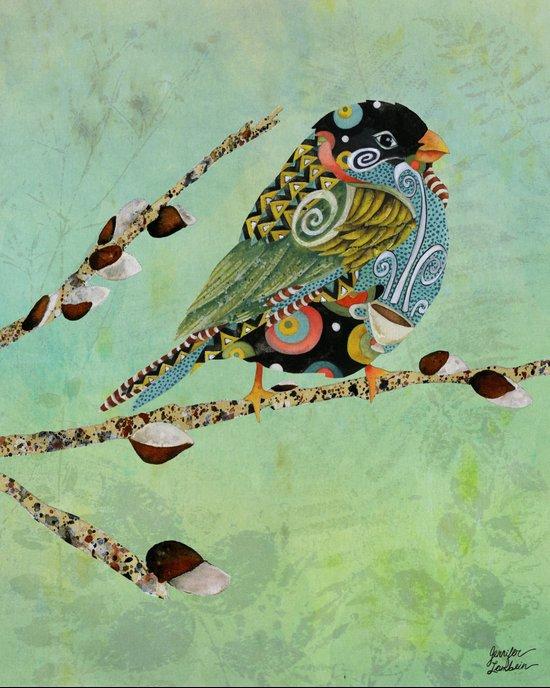 Cafe Swirly Bird 5 Art Print